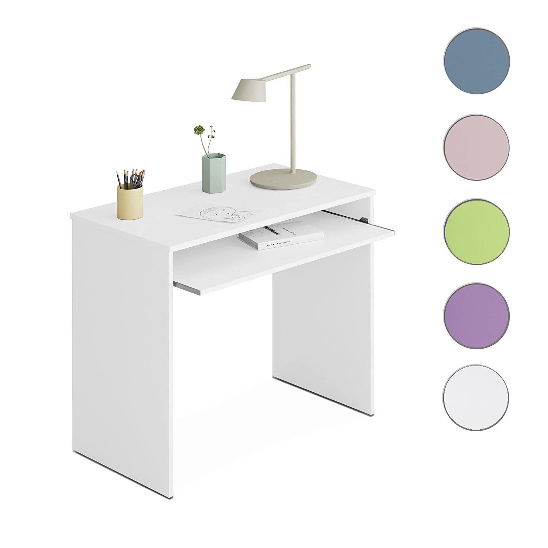 Habitdesign 002314BO - Mesa de ordenador, Blanco Brillo, 90 x 54 x 79 cm