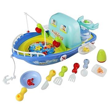 Barco De Juguete Juego De Pesca Con Una Cocina Musica De Juguete Para Ninos 3 Anos