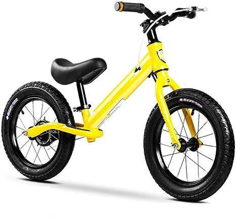 Zyyqt Bicicletas de equilibrio, neumáticos de bicicletas balance bebé de goma, Bicicletas de equilibrio for la altura 35.4-50.7in del niño, sin pedal de la bicicleta Caminar Ultraligero aleación de al: Amazon.es: Deportes