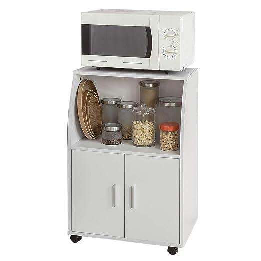 SoBuy®Aparador auxiliar bajo de cocina para microondas,con 2 ...