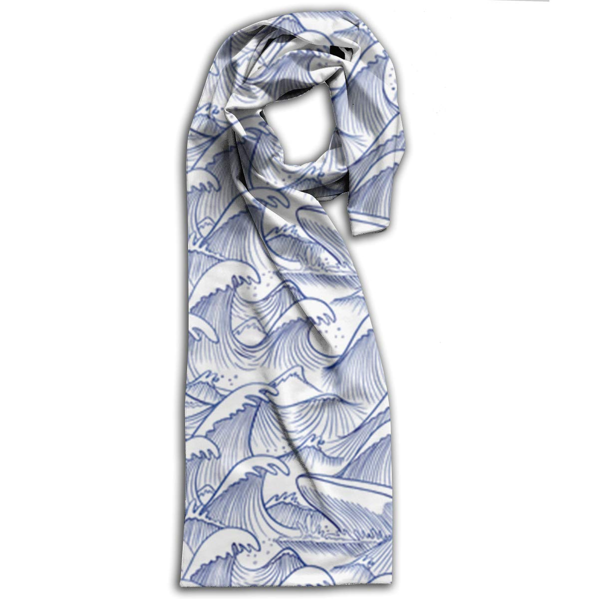 af98d066a264 Turbulent Oceans Long Scarfs Womens Stylish Shawl Wrap Large Blanket For  Fall   Winter 11