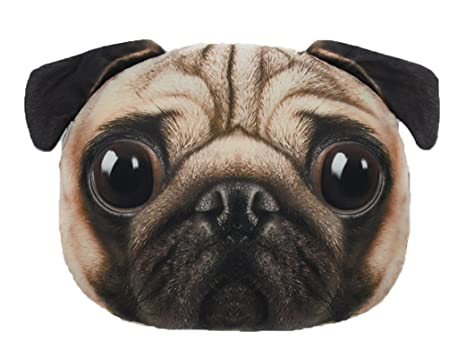 LFZ Cushion of Pug Dog Shape for Sofa Chair Bed or Car 15 inches