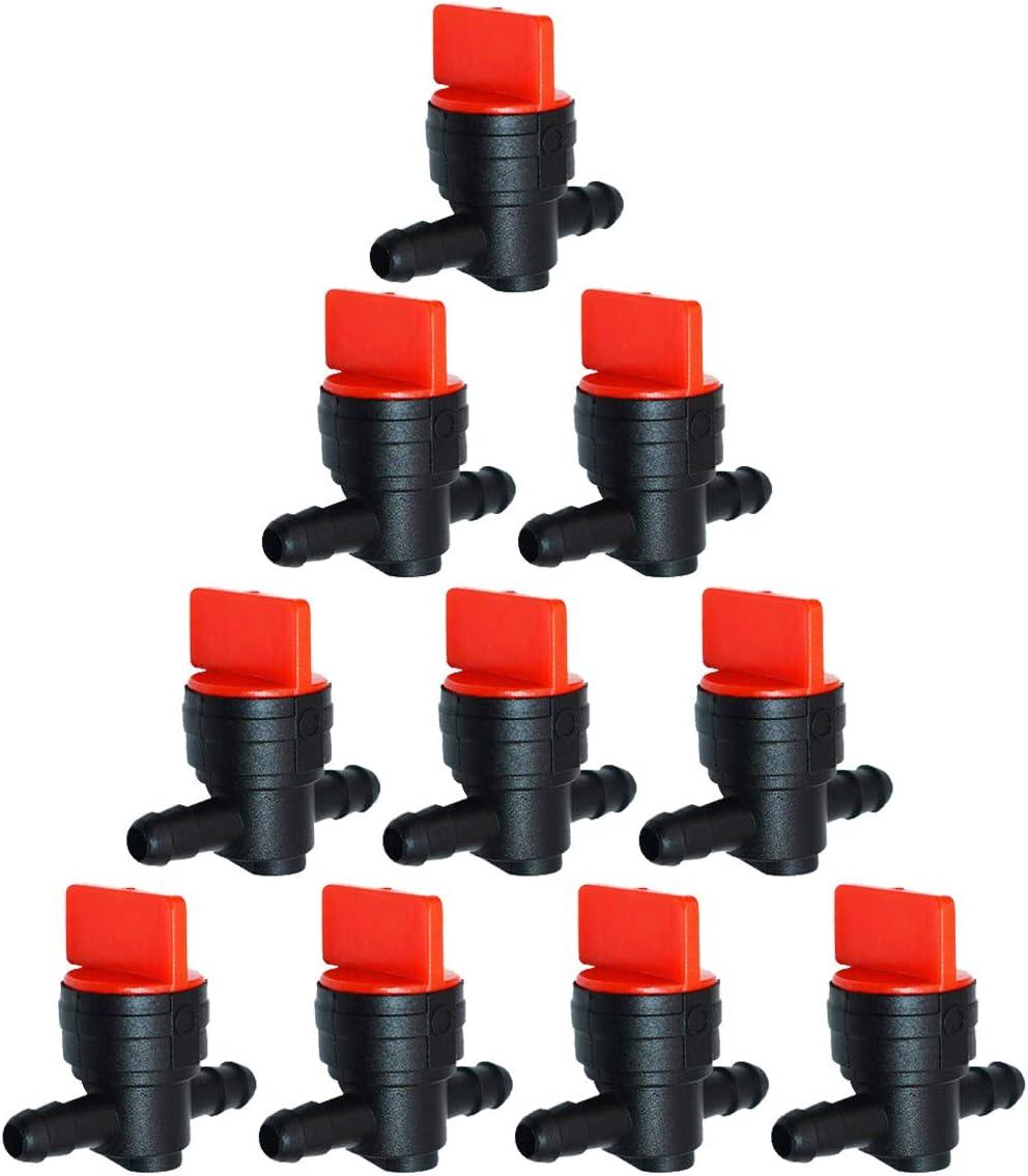 1//4 Inline Fuel Cut off Shut Off Valve Replacement for Briggs /& Stratton 493960 494768 698183 Oregon 07-406 John Deere AM36141 AM107340 Toro 54-3150 1-603770 CENTAURUS Pack of 10