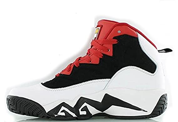 8c9a089ec066 Image Unavailable. Image not available for. Colour  Fila Kid s MB  Basketball Shoes Black White Fila Red 5.5
