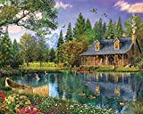 1000 piece fish puzzles - White Mountain Puzzles Mountain Cabin - 1000 Piece Jigsaw Puzzle