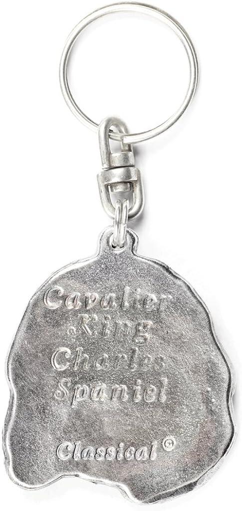 ArtDog Cavalier King Charles Spaniel Dog Keyring in Casket Key Holder Limited Edition