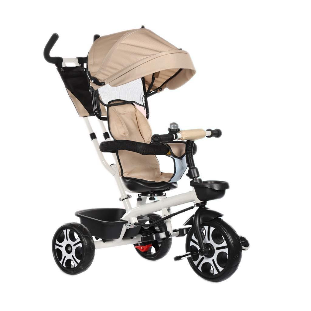 promocionales de incentivo púrpura Yuany Triciclo, Asiento Asiento Asiento Giratorio de Triciclo Multifuncional 4 en 1, toldo, Triciclo Exterior para bebé, 3 Colors, 90x70x56cm (Color  Azul)  alta calidad general