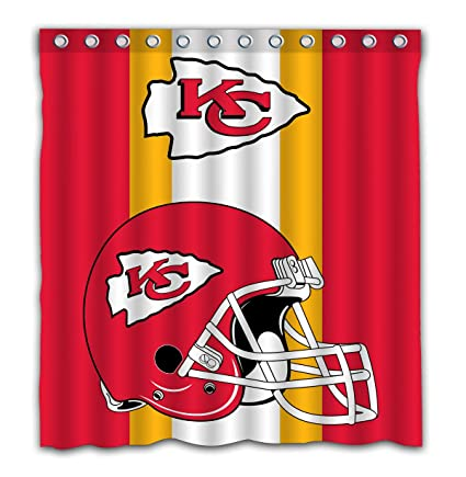 Image Unavailable Not Available For Color Potteroy Kansas City Chiefs Team Simple Design Shower Curtain