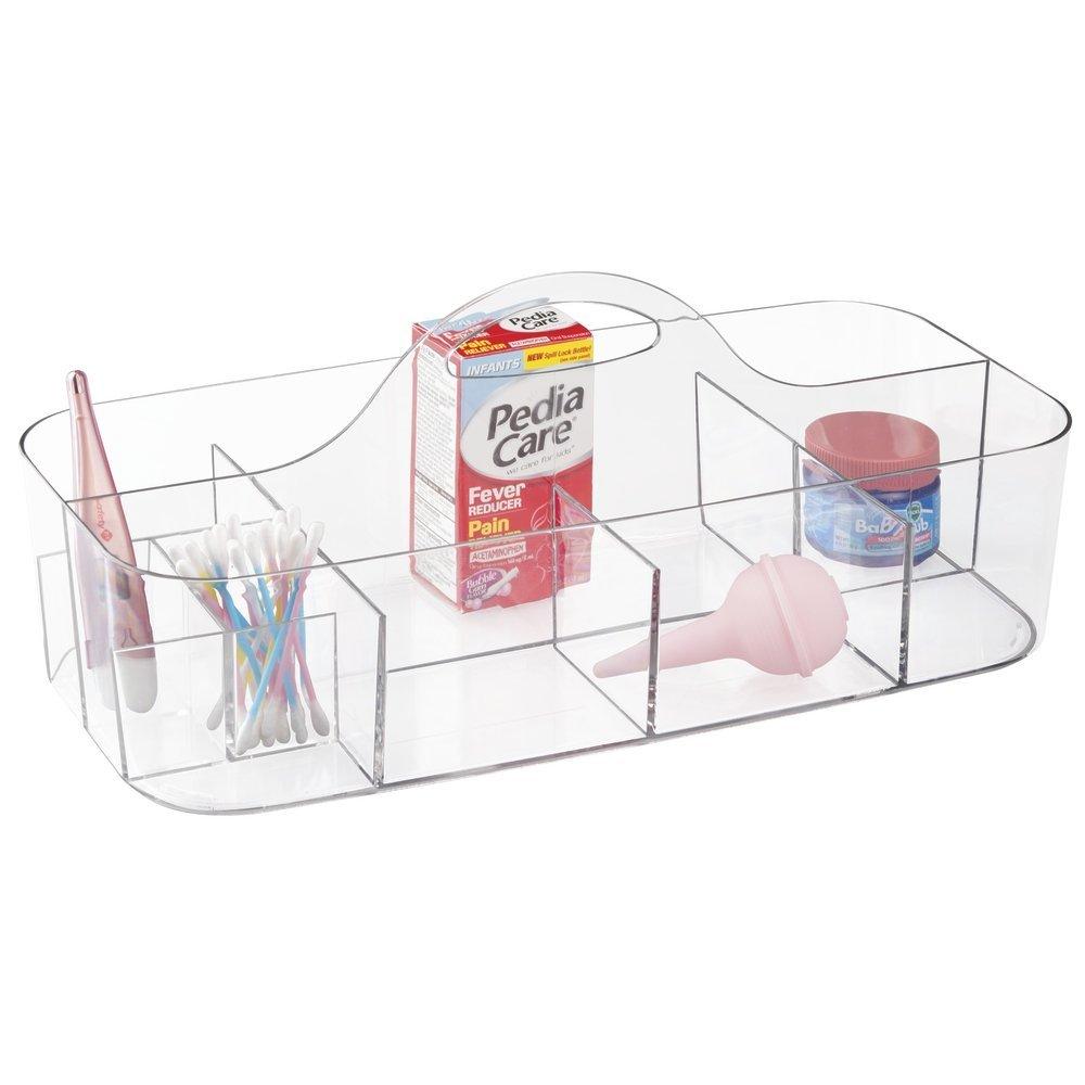 mDesign Caja organizadora de artículos de bebés – Práctico Organizador de plástico para el Cambiador con 11 Compartimentos – Organizador para Guardar ...