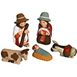 Discount Etnico - Presepe Terracotta Tacna Set. Misura 8 cm