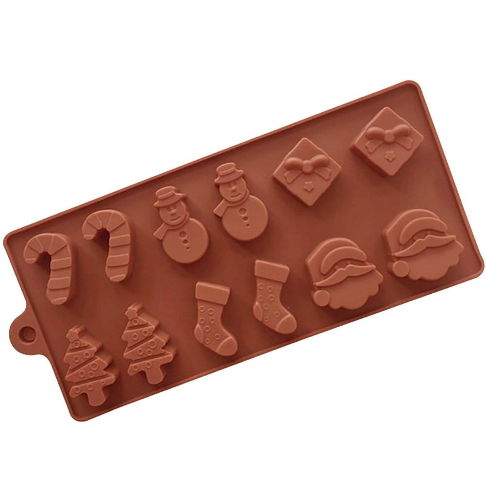 AAA226 Christmas Style Chocolate Biscuit Candy Ice Cube Mold Cake Baking Decor Mould