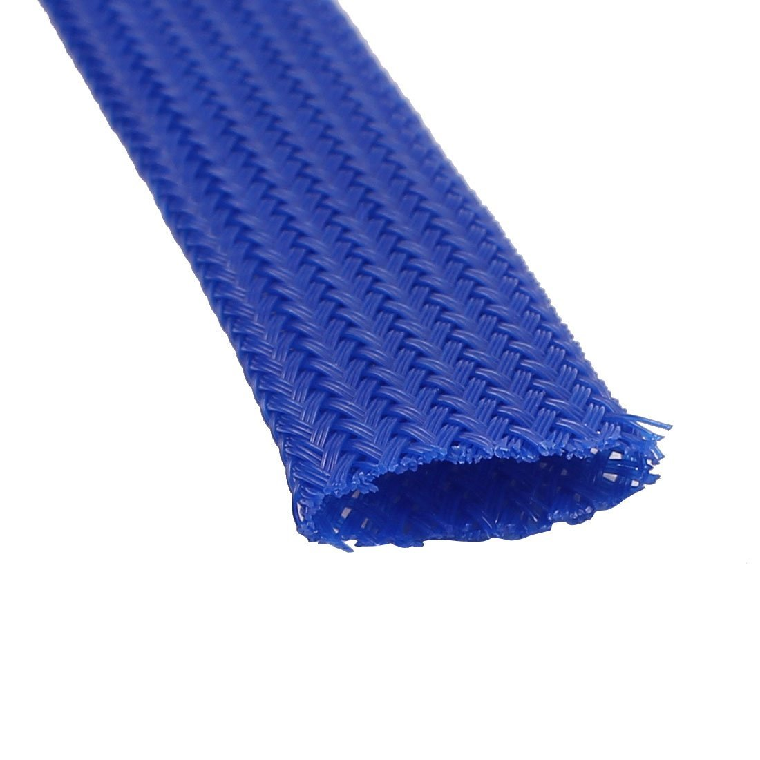 DealMux 12mm Dia Tight Braided PET Expandable Sleeving Cable Wrap Sheath RoyalBlue 10M Length