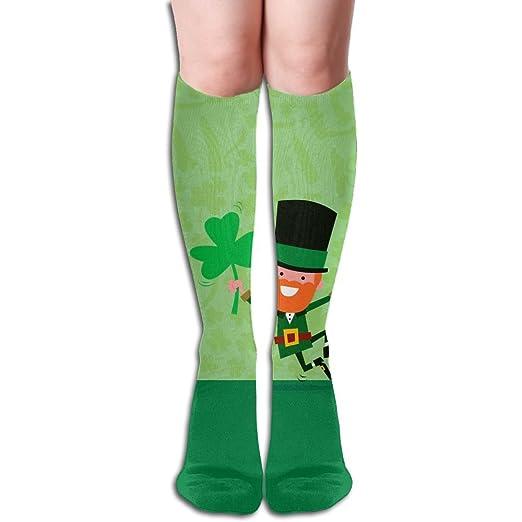 Unisex Sequins Floral Pattern Knee High Compression Thigh High Socks Tube Socks