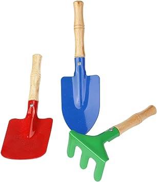 WINOMO al aire libre herramientas de jardín Set Rastrillo Pala niños playa Sandbox juguete 3 piezas: Amazon.es: Juguetes y juegos