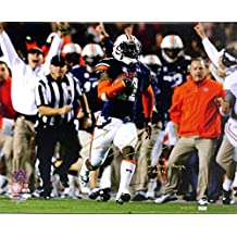 "Chris Davis Autographed/Signed Auburn Tigers 24x32 Wrapped Canvas with ""Kick Six - Game Over Bama - War Eagle!"" Inscription Limited Edition #111 of 111"