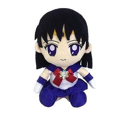 Bandai Sailor Moon Mini Plush Doll Cushion 2 Sailor Saturn: Toys & Games