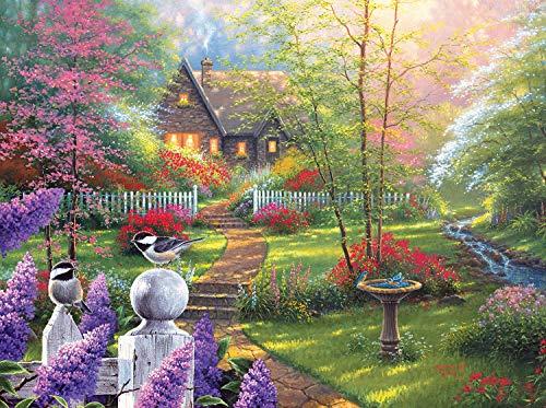 - LPF Secret Garden Cottage 1000 pc Jigsaw Puzzle by Artist: Abraham Hunter