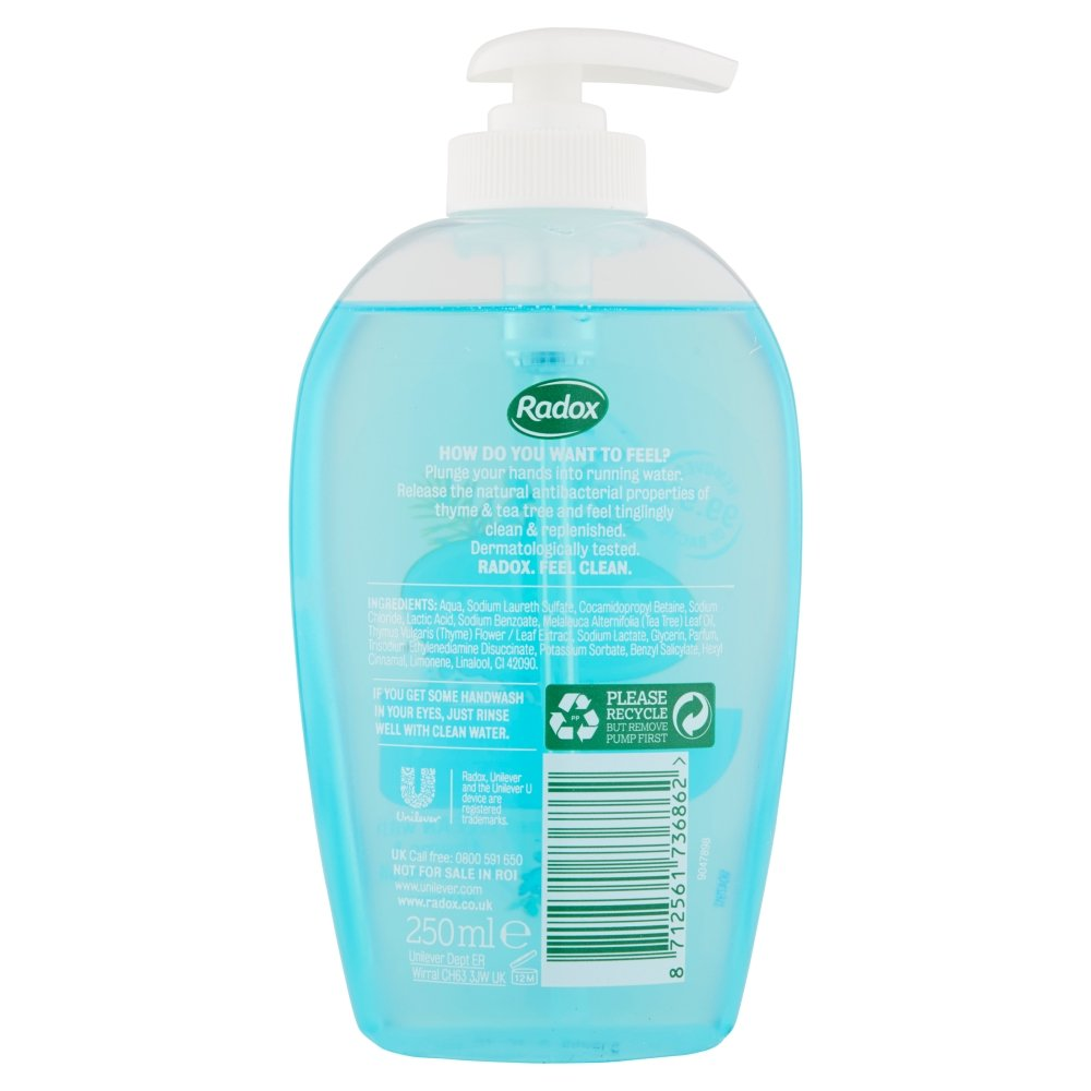 Radox Protect Replenish Anti Bacterial Handwash 250ml Amazonco Cussons Baby Shampoo Coconut Oil And Aloe Vera 100 Ml Grocery