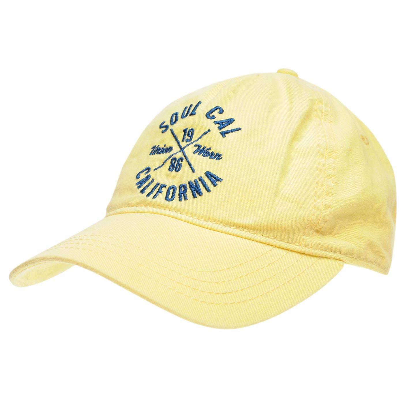 Yellow Mens SoulCal Sula Cap Mens Baseball Hat Headwear