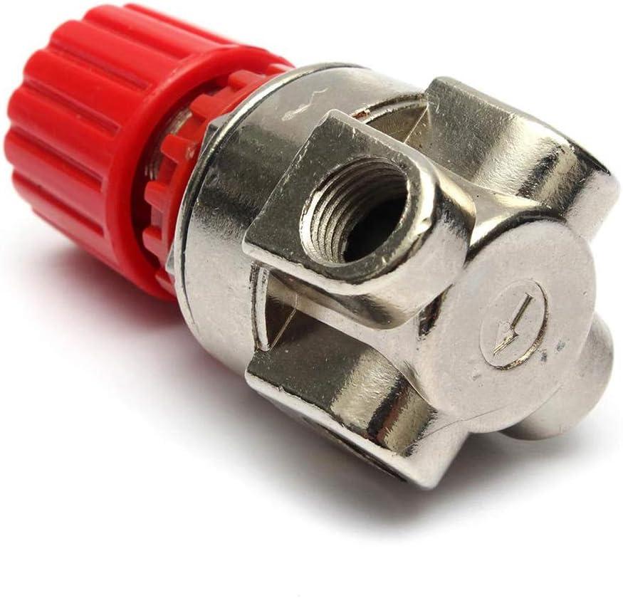 Houkiper 125 PSI Luftkompressor-Druckventil-Steuerschalter-Regler mit Doppelmanometern
