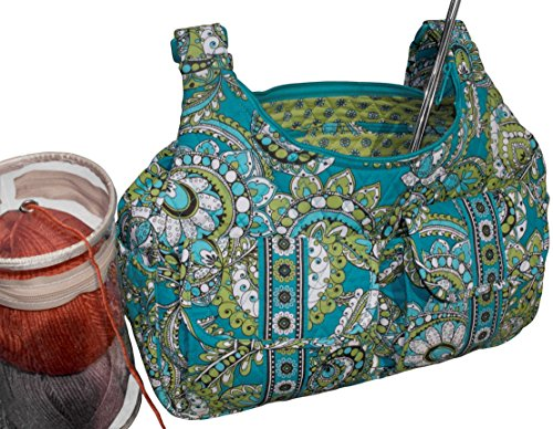 Yarn Tote Organizer, Knitting Tote Bag,