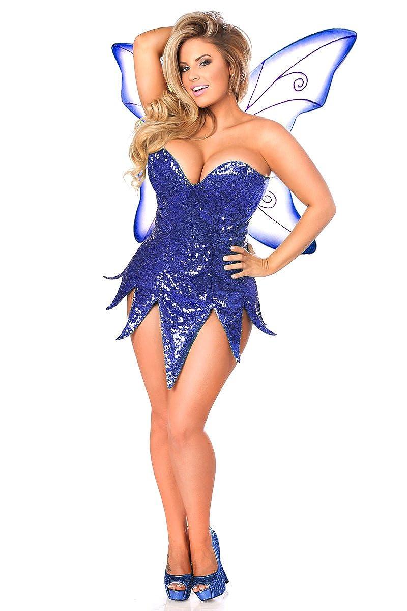 dbd376ae28 Top1  Daisy Corsets Women s Plus-Size Plus Size Blue Sequin Fairy Corset  Dress Costume