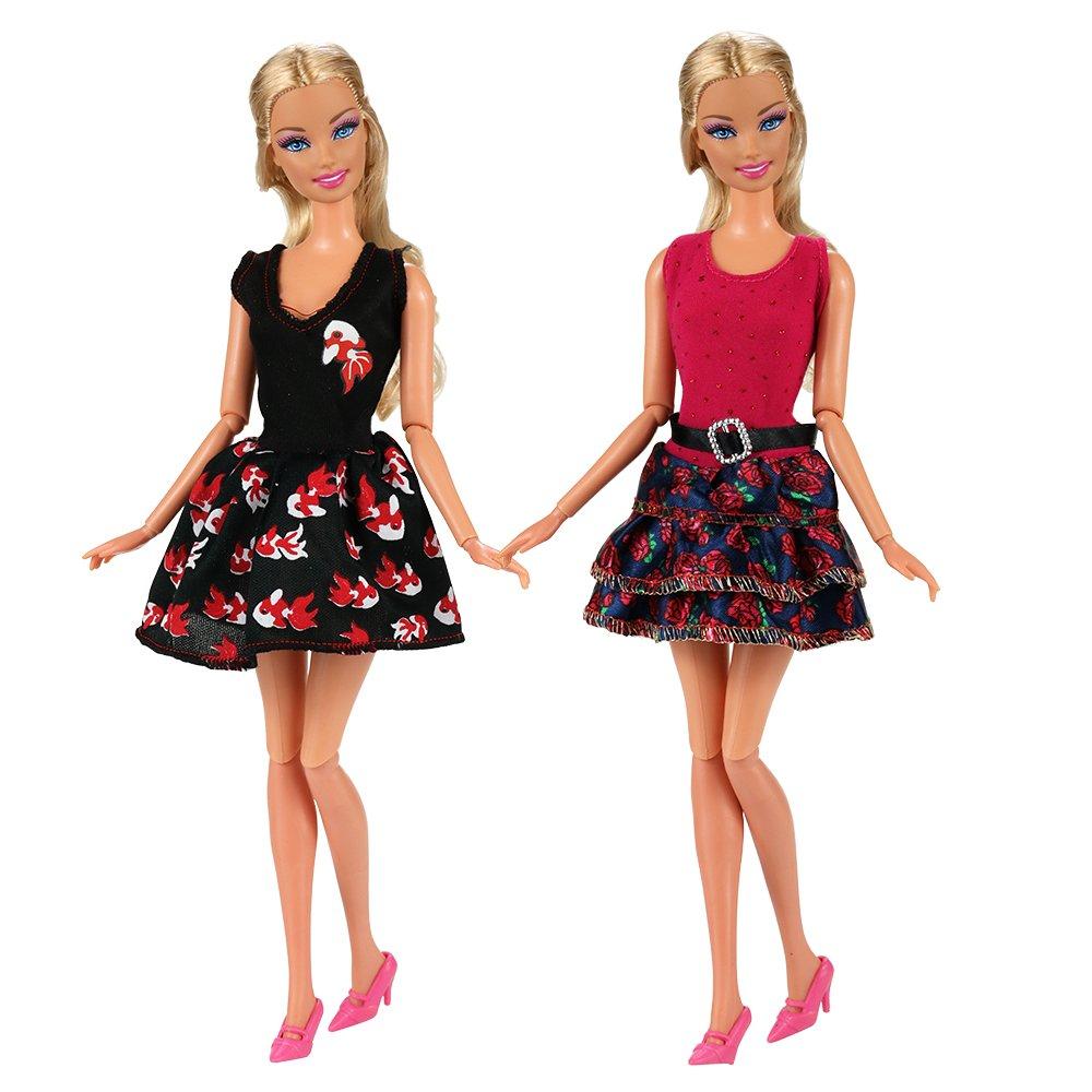 Villavivi Abiti Vestiti Ed Accessori Per La Festa Per Barbie Dolls Bambola  Per Regalo 2018 Stili ingrandisci 8d4240fcdad