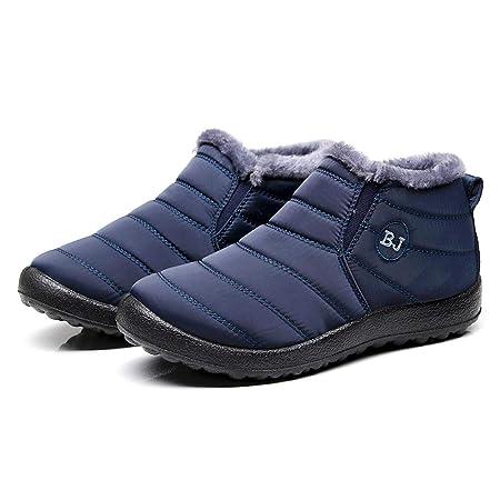 Hombre Mujer Botas de Nieve Antideslizante ZARLLE Zapatos Invierno Botas de Nieve para Mujer Hombres Botines Moda Calentar Forrado Botas Tacon Zapatillas ...