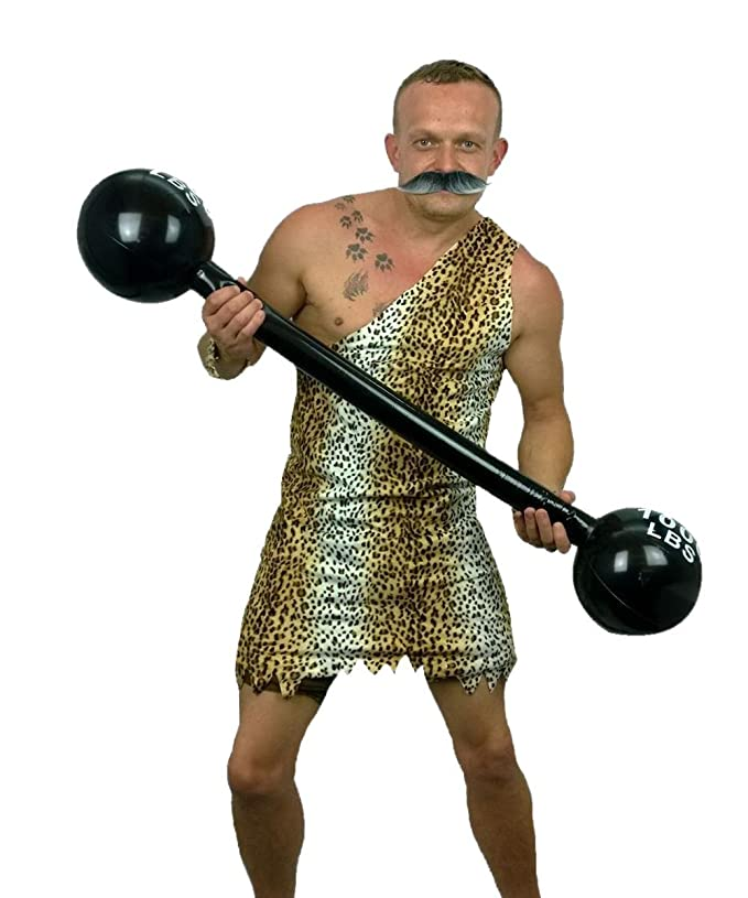 1930s Men's Clothing 1920s Strongman Costume Tache & Weights Fancy Dress Complete Strong Man £24.95 AT vintagedancer.com