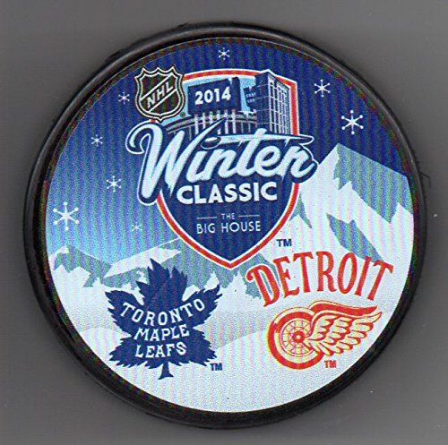 - 2014 Winter Classic Detroit Red Wings vs Toronto Maple Leafs The Big House NHL Hockey Puck + FREE Cube