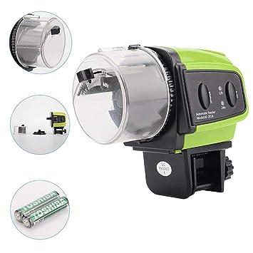 DJLOOKK Alimentador Peces Automáticoalimentador Automático De Peces De Acuario, Dispensador De Comida para Peces para
