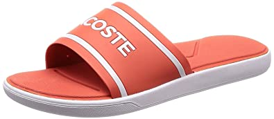 a0c6c832d Lacoste L.30 Slide Pink White Womens Beach Summer Flip Flops  Amazon ...
