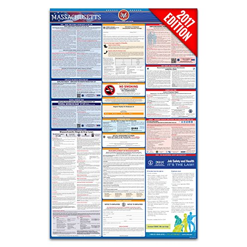 2017 Massachusetts Labor Law Poster – State & Federal Compliant – Laminated