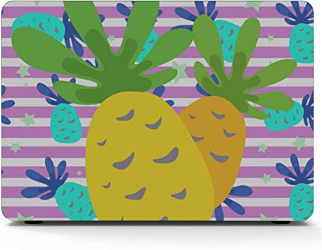 MacBook 15 Cover Summer Retro Sweet Fruit Pineapple Plastic Hard Shell Compatible Mac Air 11 Pro 13 15 MacBook Pro Case 2018 Protection for MacBook 2016-2019 Version