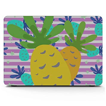 Case MacBook Air Summer Fashion Fruit Pineapple Plastic Hard Shell Compatible Mac Air 11 Pro 13 15 MacBook 15 Case Protection for MacBook 2016-2019 Version