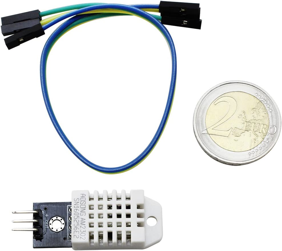 AM2302 Sensor Digital Sensor de Humedad y Temperatura con PCB y Cable 02 Piezas - Sensor DHT22 com-four/® 2X DHT22