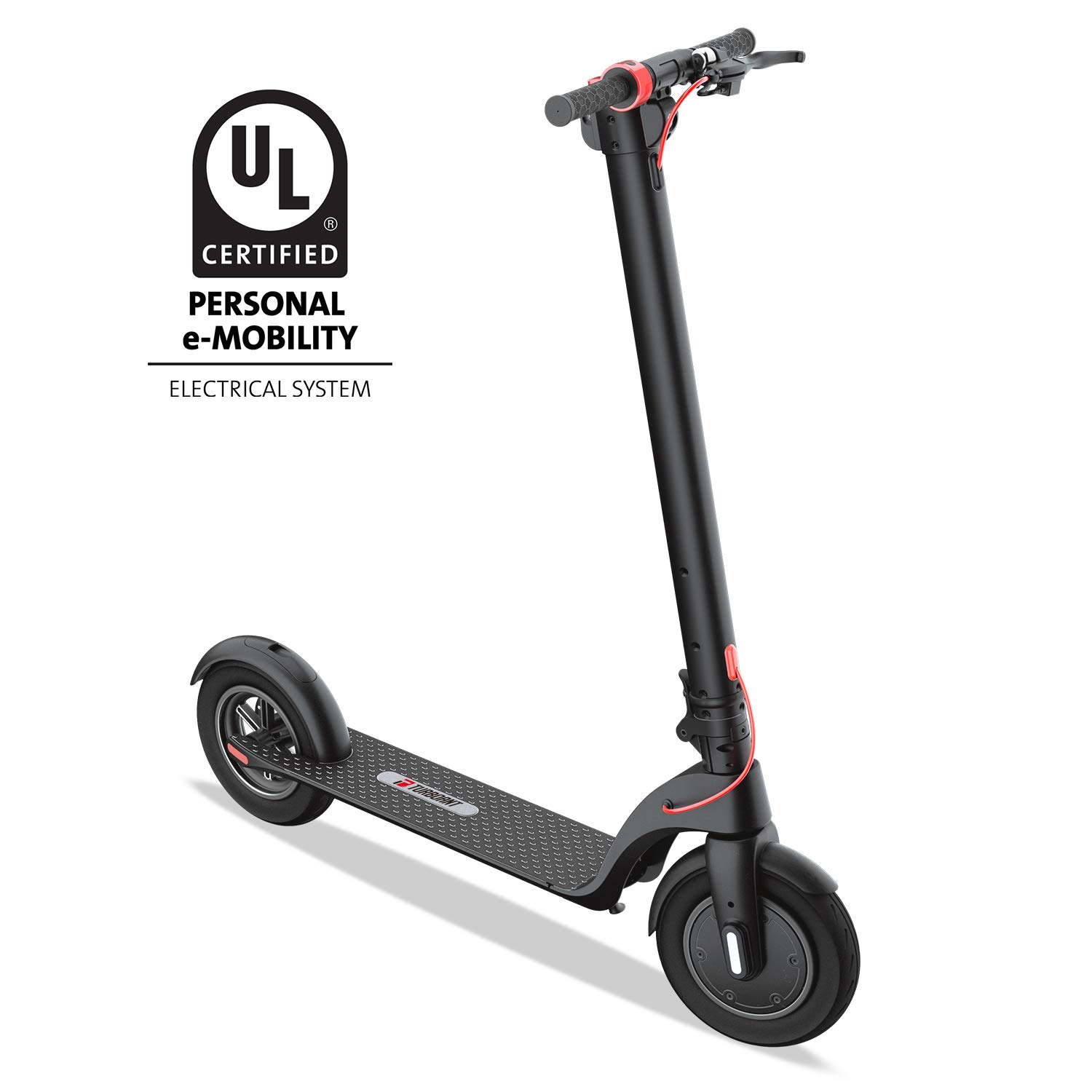 Turboant Folding Electric Scooter X7 with Detachable Battery Pack, 350W Motor Up to 19.9 MPH, 8.5'' Tubeless Pneumatic Front and Rear Tires