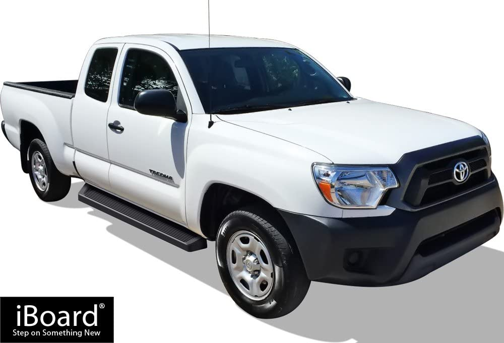 """iBoard Stainless Steel 5/"""" Running Boards Fit 05-19 Toyota Tacoma Access Cab"""