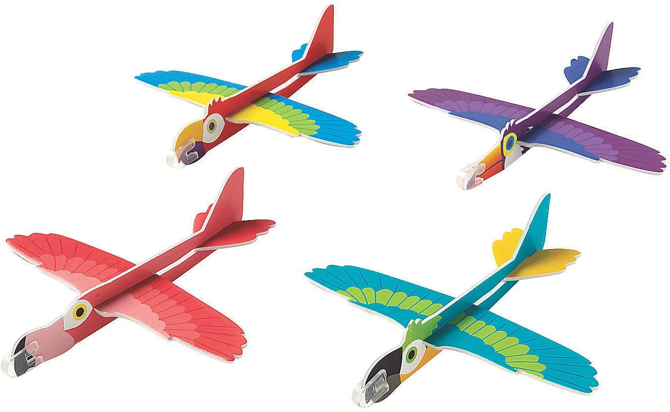 Vehicles 12 Pieces Toys Fun Express Space Shuttle Foam Glider Gliders