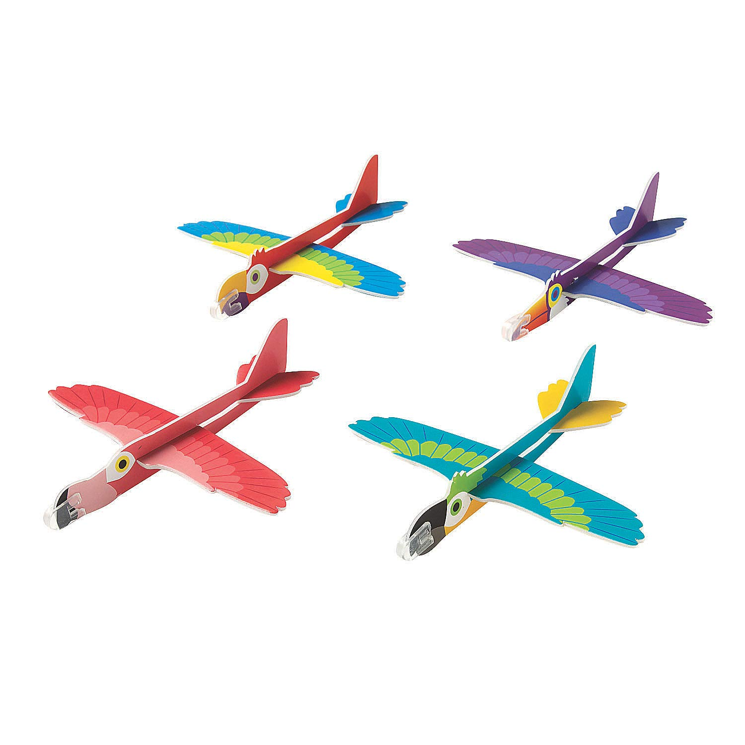 Fun Express - Tropical Birds Gliders - Toys - Vehicles - Gliders - 24 Pieces