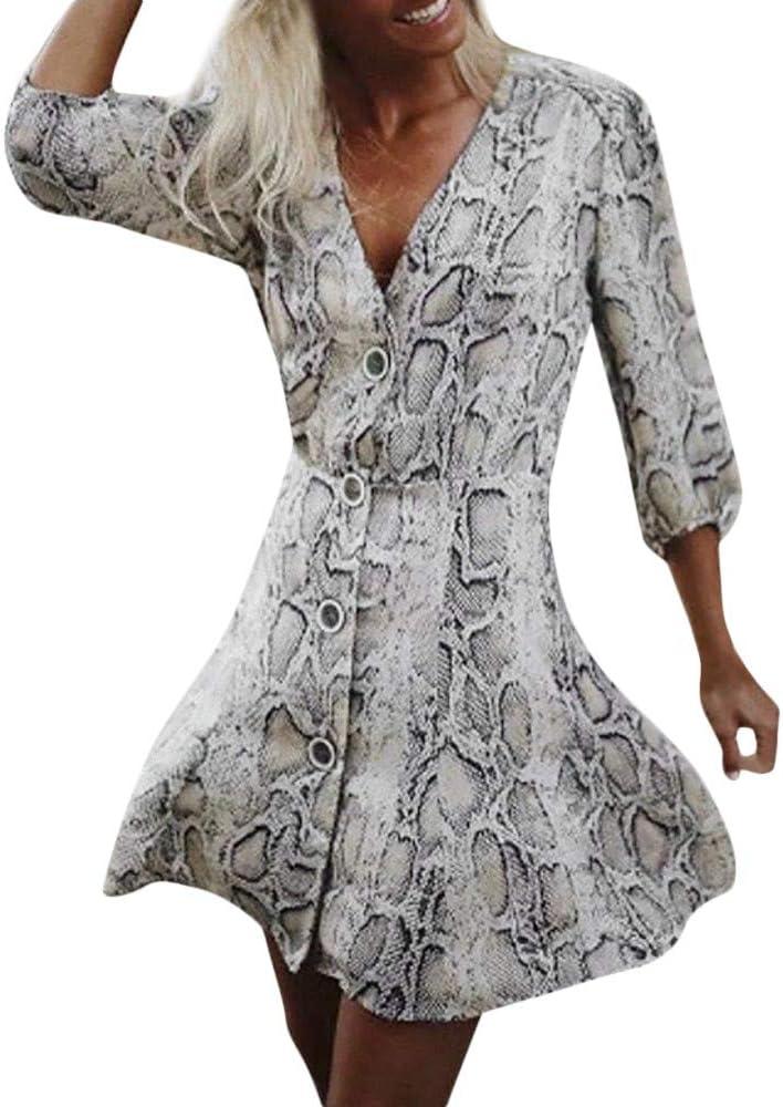 Vestidos de Fiesta Mujer Niña, Estampado de Piel de Serpiente ...