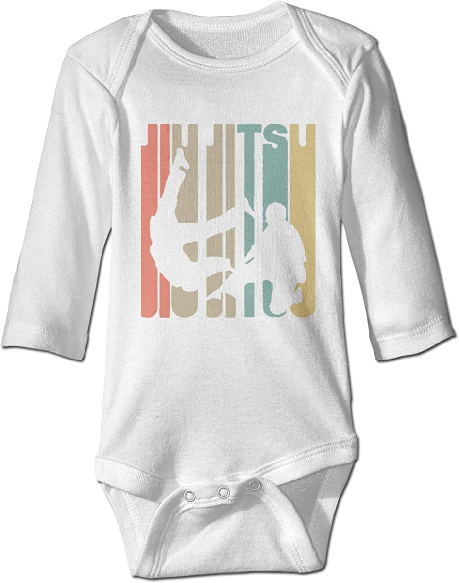 Marsherun Infant Babys Boys Girls Jiu Jitsu Long-Sleeve Climbing Bodysuits Playsuits