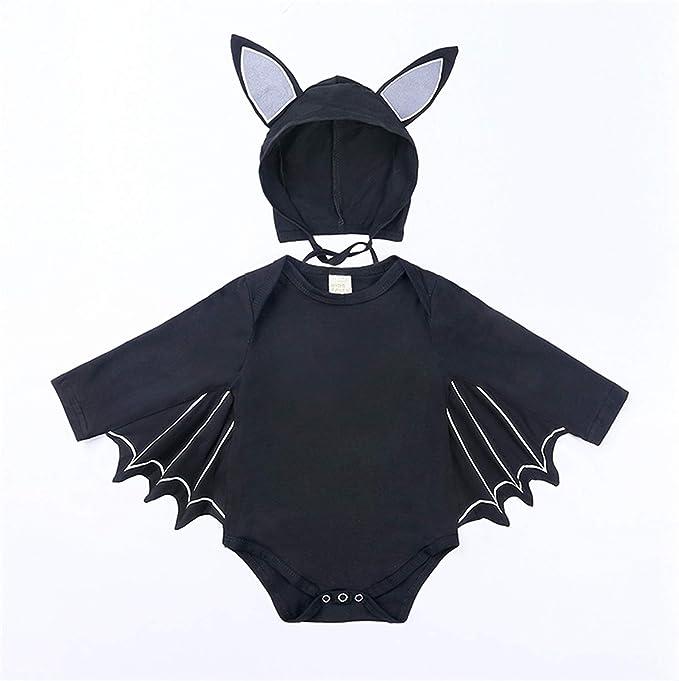 Ropa de bebé niña murciélago Negro Ropa de Manga Larga para bebé ...