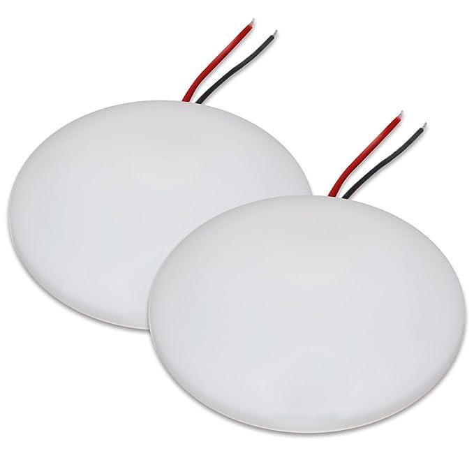 2 opinioni per Dream Lighting 12V 4.5inch Plafoniera a LED / bianco caldo Tetto Pannello