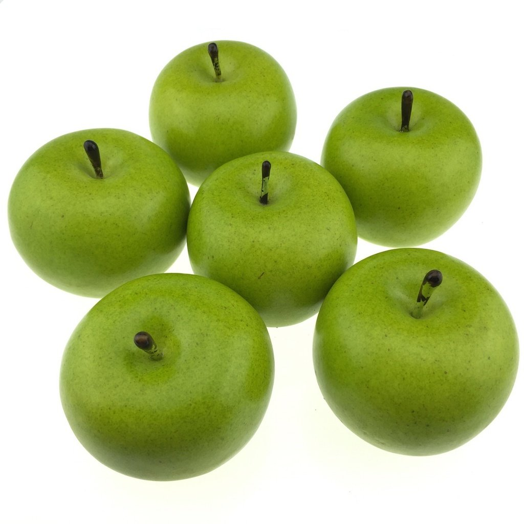Gresorth-6pcs-Lifelike-Artificial-Green-Apple-Faux-Fake-Apples-Fruit-Home-House-Kitchen-Cabinet-Decoration