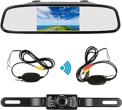 4.3 TFT LCD Car Rear View Mirror Monitor Kit Waterproof Mini Backup Reverse Reversing Camera 170/°For Car//Vehicle