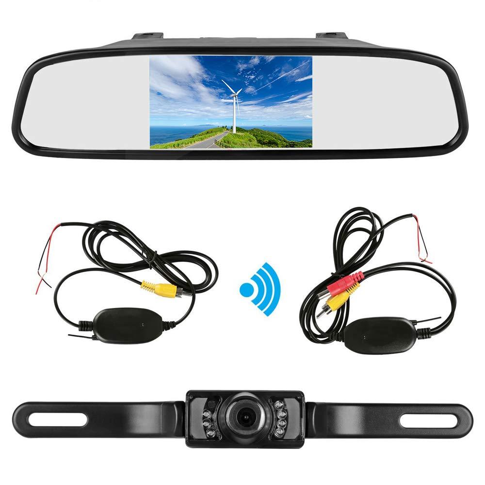 "4.3/"" Car TFT LCD Mirror Monitor for Reverse Car Rear View Backup Camera Parking"