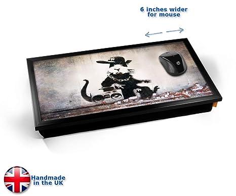Banksy Rap Rat Laptop Tray Cojín Bandeja para Portátil