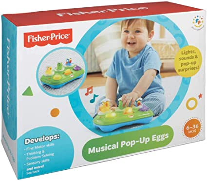 Amazon.com: Fisher-Price Musical Pop-Up huevos: Toys & Games
