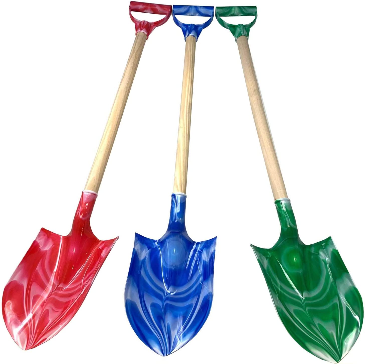9 Thick Beach Sand Shovels Scooping Toys Kit Beach Gear Water Pool Gardening Digging Bath Toy Environmentally ABS Durable Thick Plastic Complete Gift Set Bundle For Kids Boys Girls 3 Pack Green Blue